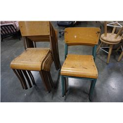 11 STACKING CHAIRS