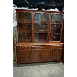 FRENCH PROVINCIAL DISPLAY CABINET 2PC