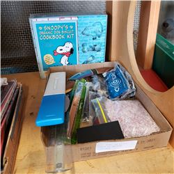 SNOOPY ORGANIC DOG BISCUIT COOKBOOK KIT AND OTHER COLLECTIBLES