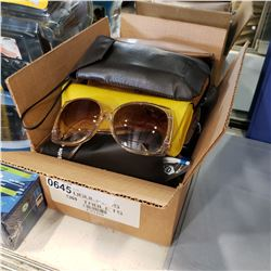 BOX OF SUNGLASSES AND GLASSES