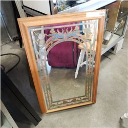 ETCHED GLASS ARCHWAY MIRROR