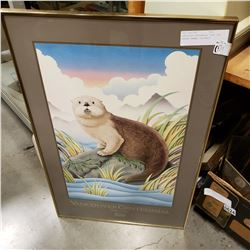 VANCOUVER CENTENNIAL FIND THE BEAVER FRAMED PORTRAIT