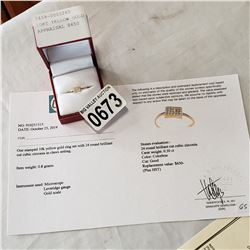 10KT YELLOW GOLD CZ RING W/ APPRAISAL $650