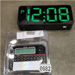 NEW PASSWORD SAFE AND LARGE DIGIT TIME CLOCK