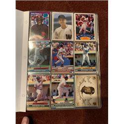 BINDER OF MLB BASEBALL VINTAGE CARDS