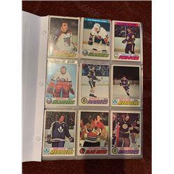 BINDER OF 1977-78 OPEECHEE HOCKEY CARDS, INCLUDES STARS