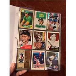 BINDER OF MLB STAR AND ROOKIE CARDS