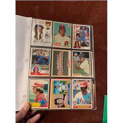 BINDER OF 100+ VINTAGE MLB CARDS