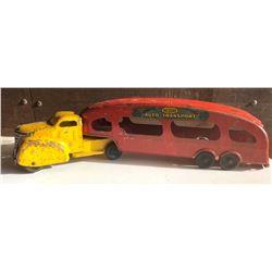 MARX TIN AUTO TRANSPORT TOY TRUCK