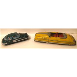 GR OF 2, MARX WINDUP TIN TOY CARS