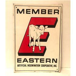 EASTERN ARTIFICIAL INSEMINATION COOP TIN SIGN