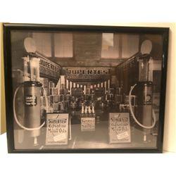 1923 SUPERTEST CO. FRAMED PHOTO