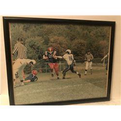 """1960'S FRAMED FOOTBALL PHOTO - 17"""" X 21"""""""