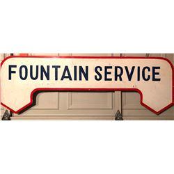 FOUNTAIN SERVICE SIGN
