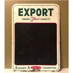 1964 EXPORT A CARDBOARD BLACKBOARD SIGN