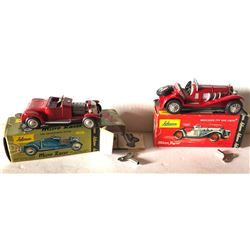 SCHUCO WIND-UP TIN CARS WITH ORIG BOXES