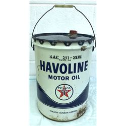 1964 TEXACO HAVOLINE MOTOR OIL PAIL