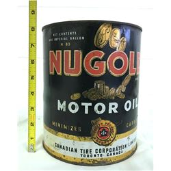 CANADIAN NU-GOLD 1 GAL MOTOR OIL CAN
