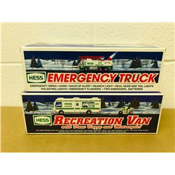 GR OF 2, HESS EMERGENCY TRUCK & RECREATION VAN - AS NEW