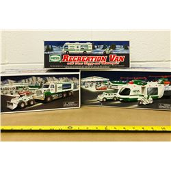 GR OF 3, HESS RECREATION VAN & LOADER & MOTORCYCLE