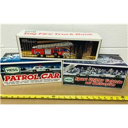 GR OF 3, HESS PATROL, FIRE & UTILITY TRUCKS - AS NEW