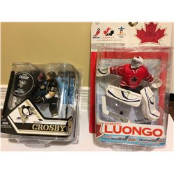 GR OF 2 SPORTS FIGURINES - CROSBY & LUONGO - AS NEW