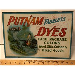 PUTNAM DYES TIN DISPLAY CASE