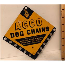 ACCO DOG CHAINS SST SIGN