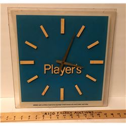 PLAYERS ACRYLIC CLOCK