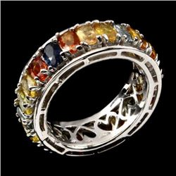 Natural Fancy Color Sapphire Eternity Band