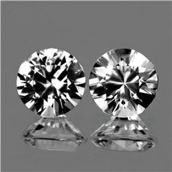 Natural  Diamond Cut White Zircon Pair 6.50 MM - FL