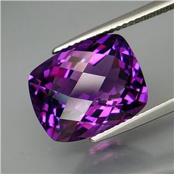 Natural Cushion Checker Amethyst  8.15 Ct - Untreated