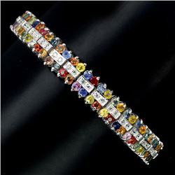 Natural Fancy Sapphire 139 Carats Bracelet