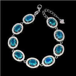 Natural Ethopian Blue Opal Bracelet