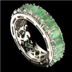 Natural Untreated Colombian Emerald Ring