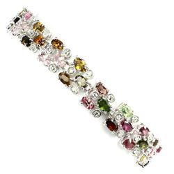 Natural Fancy Tourmaline 76 Ct Bracelet