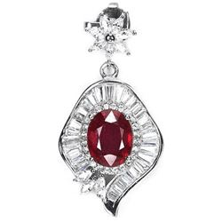 GENUINE BLOOD RED RUBY Pendant