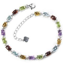 Natural Multi Gemstone 40 Carats Bracelet