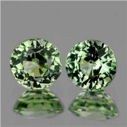 Natural AAA Bright Green Sapphire Pair - VVS