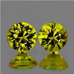 Natural AAA Canary Yellow Sapphire Pair 5 MM - FL