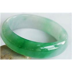 Natural  Green JADE/Jadite Type A  Bangle