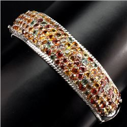 Natural Multi Color Sapphire 261.33 Carats Bangle