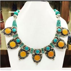Tibet Hand Made Turquoise Necklace