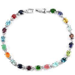 Natural EMERALD RUBY SAPPHIRE Bracelet
