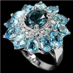 Natural LONDON-SWISS-SKY BLUE TOPAZ Ring