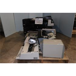 MISC PRINTERS, TYPEWRITERS, DVD PLAYER  (Includes Lot 10006) Office Equipment / Furniture