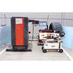 TIRE CHANGING MACHINE, WHEEL BALANCER, BAND SAW Shop Equipment