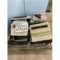 TYPEWRITERS, FAX MACHINE, LAMINATOR Office Equipment / Furniture