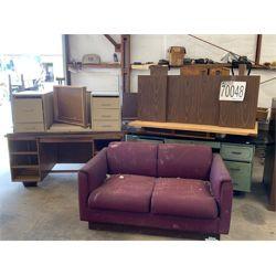 DESKS, CHAIRS, LOVESEAT Office Equipment / Furniture