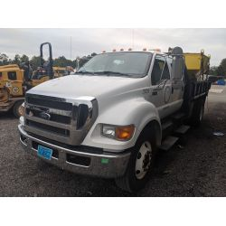 2011 FORD F750 Flatbed Dump Truck